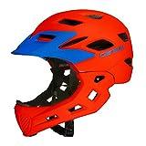Zantec Kinder Fahrradhelm, Full Face CoveRot Helm Bike Motorrad Kinder Skating Sport Sicherheit Schutz Orange