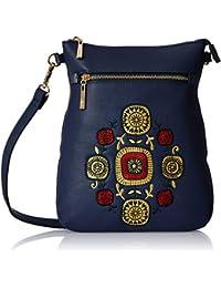 Global Desi Women's Sling Bag (Navy)