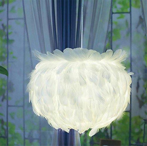 Bambus-harz-tischlampe (LUCKY CLOVER-AFeder Decke Pendelleuchte Schatten Stehlampe und Tischlampe Wohnzimmer, Esszimmer Schlafzimmer Cafe Bar Fashion Lampe (weiß,Rosa) , Weiß)