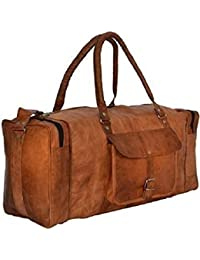 Anshika International Original Leather Travel Duffle Luggage Bag - 20 Inch