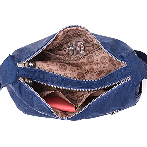 Outreo Umhängetasche Kleine Schultertasche Leichter Wasserdicht Designer Messenger Bag Sporttasche Mode Taschen Damen Kuriertasche für Mädchen Blau 1