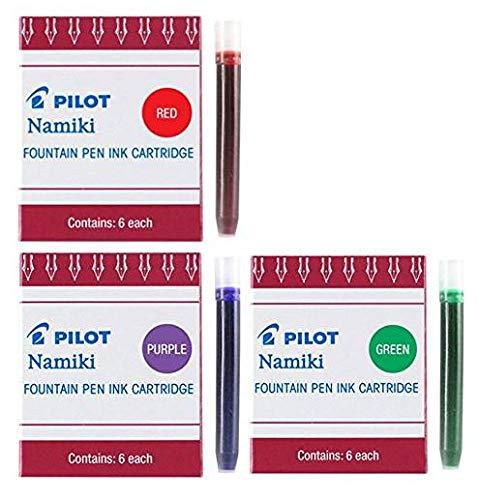 Pilot Namiki IC50Füllhalter Tintenpatronen violett grün rot (69002-69003-69004) (Namiki Füllhalter)