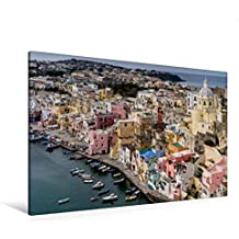 Premium Textil-Leinwand 120 cm x 80 cm quer, Corricella im Golf von Neapel | Wandbild, Bild auf Keilrahmen, Fertigbild auf echter Leinwand, Leinwanddruck: Pr  Procida (CALVENDO Orte)
