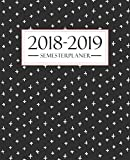 Semesterplaner 2018-2019: Oktober 2018 – September 2019: 19 x 23 cm : Schwarz & Weiß Abstraktion