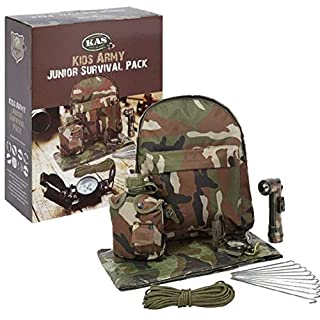 Absab Ltd KAS Childrens Army Junior Survival Pack Kids Military Role Play Set