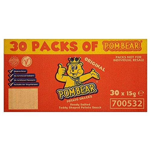 Pom-Bär Original-Kartoffel-Snacks 30 x 15g (Packung mit 15 g)
