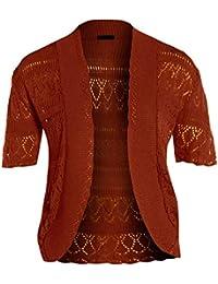 neuen Frauen Crochet Knit Cardigans Fischnetz Bolero Top 44-54