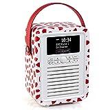 VQ Retro Mini DAB/DAB+ Digital- und FM-Radio mit Bluetooth und Weckfunktion - Lulu Guinness Rote Lippen