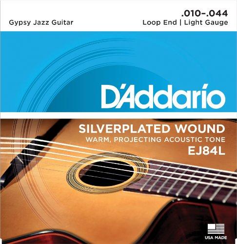 D'Addario EJ84L Gypsy Jazz Saitensatz mit Loop End (Schlaufe) .010 - .044 light Loop End-e-saite
