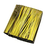 Metallic Gold Twist Ties 3.1 Inch for Party Favor sweet Treat Bags 800PCS