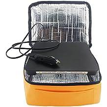 yiboss Mini horno eléctrico calefacción Mini portátil y # xFF0C; Bolsa para el almuerzo, resistente al agua de calefacción eléctrica calentador de alimentos bolsa de transporte trabajo con todos los Flatform parte inferior 12 V Car naranja