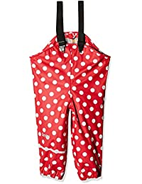 CareTec Pantalones Impermeable Unisex Niños, Rojo (Red 402), 86