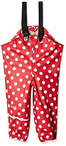 CareTec Kinder Regenlatzhose, wind- und wasserdicht (verschiedene Farben), Rot (Red), 116