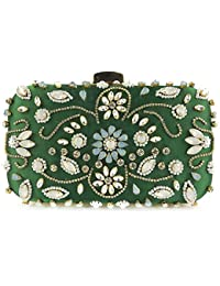 10c21ba5d wpxm-bag Bolso de embrague para la cena para mujer Bolso de noche Bolso  monedero - Perla - Diamante - Fiesta de…