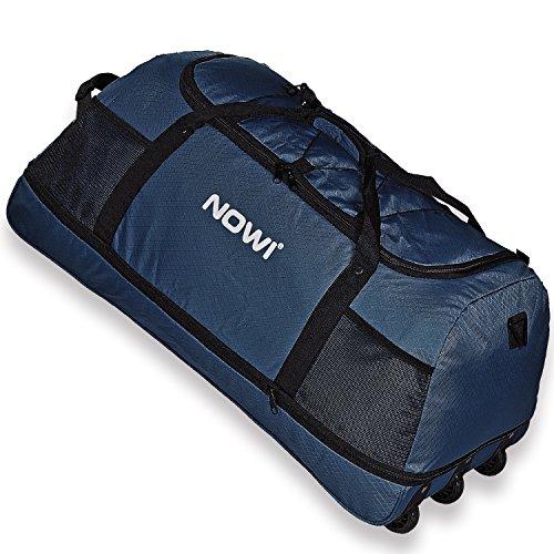 NOWI XXL 3-Rollen Reisetasche 100-135 Liter Volumen Rollenreisetasche platzsparend 81 cm mit Dehnfalte