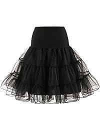 FNKDOR Jupon années 50 Vintage en Tulle Rockabilly Petticoat Femme Fille