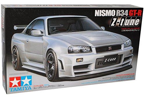 R34-modell-kit Gtr (Nissan Skyline R34 Nismo Silber Z-Tune GT-R 1998-2002 24282 Kit Bausatz 1/24 Tamiya Modell Auto Modell Auto)