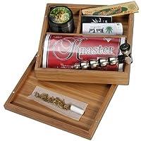 Black Leaf Stoner Box Caja de Bambú para Fumadores 175x160x60mm - PatchouliWorld