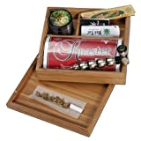 Black Leaf Stoner Box Caja de Bambú para Fumadores 175x160x60mm - PatchouliWorld
