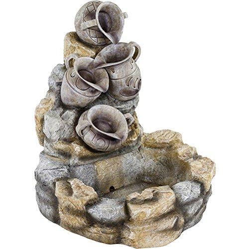 STILISTA® Gartenbrunnen Modell DIONYSOS Springbrunnen 83 x 70 x 75 cm inkl. Pumpe