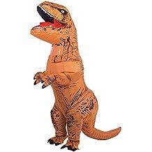 SUNREEK Disfraz Inflable de Dinosaurio T-Rex Adulto, Trajes de Dinosaurio Inflable Enorme explotar