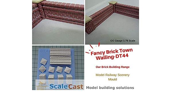 Model Railway BRICK DETAILED WALLING Mould DT44 OO Gauge