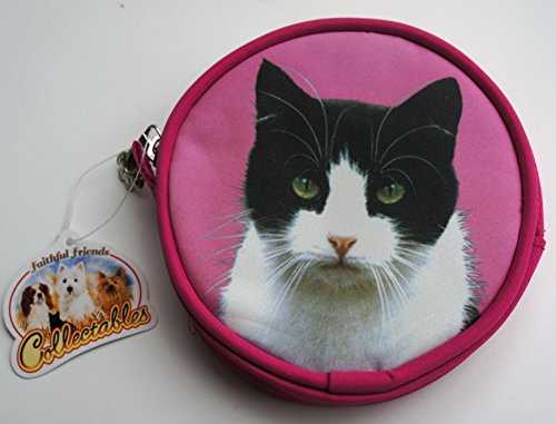 Price comparison product image BLACK AND WHITE CAT COIN PURSE MADE BY SAWLEY FINE ARTS