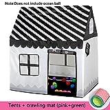HTTMYY Bambini Tenda Game House + Stuoie Strisciare Pieghevole Raggruppamento Del Giocattolo Coperta All' Ragazza 110x100x70cm , 003