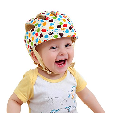 ELENKER Babyhelm Kopfschutzmütze für Kleinkind beim Lauflernen verstellbar Safety Helmet (Bunte)