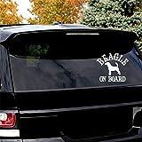 Stickers Lunette Arrière Voiture Beagle À Bord De Chien Autocollant Pour Voiture Auto Fenêtre Pare-Chocs Autocollant Autocollant Stickers Pour Voiture Fenêtre Autocollant