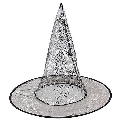 hut mit Exquisitem Muster (Spinne, Hexe, Kürbis) für Kostüm Party, Tanz Party, Cosplay, Verschiedene Stile Gewält (Kürbis-kostüm-muster Für Erwachsene)