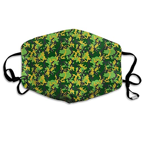 Outdoor Mouth Mask with Design, Reusable Half Face Mask Anti-dust Mask, Dust Mask Camouflage Party Supplies Fashionable Green Mouth Mask Face Anti Pollution Outdoor Mask Warm Windproof Face Masks