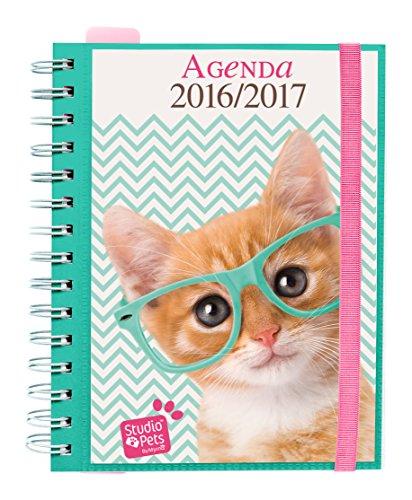 Grupo Erik Editores Studio Pets Cat - Agenda escolar sv 2016/2017, 14.8 x 21 cm