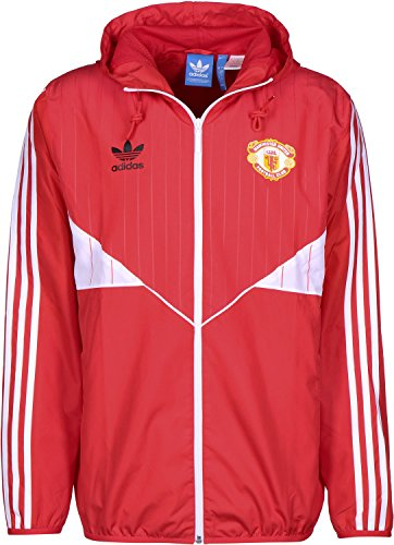 Cortavientos adidas – Manchester United rojo/blanco talla: M (Medium)