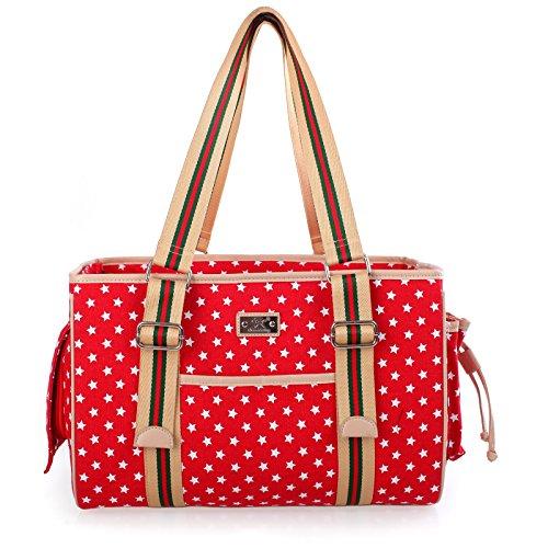 Hundervoll - Hunde-Tragetasche - Transport-Tasche für Hunde, Katzen, Welpen - Katzen-Tragetasche Farbe: rot
