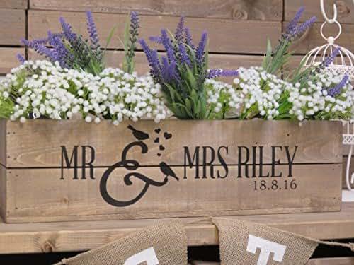 Wedding Gift Ideas Amazon Uk : ... crates uk personalised rustic wedding table centrepiece wooden wedding