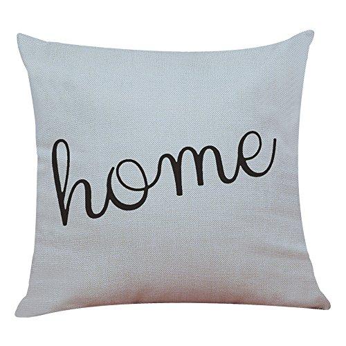 Kword semplice geometrica stampato federa di cotone lino piazza federe decorazione domestica, senza il cuscino interno (h)