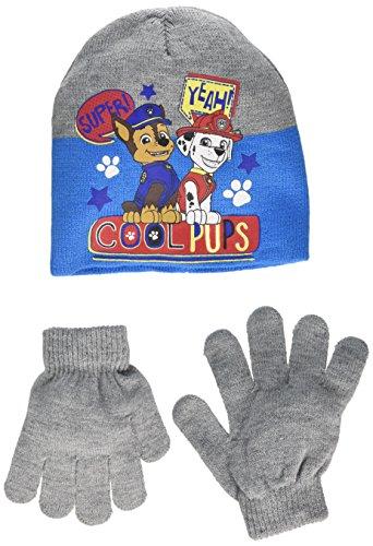 Paw patrol cappellino + guanti bambino (tg 54, grigio)