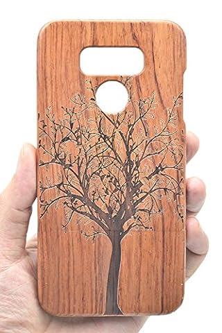 Holzsammlung LG G6 Holzhülle - Palisander Weihnachtsbaum - NatürlicheHandgemachteBambus / Holz Schutzhülle für Ihr Smartphone