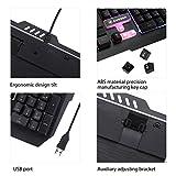 Aursen-Mechanische-beleuchtete-Gaming-TastaturschwarzUSB-KabelRGB-HintergrundbeleuchtungDeutsches-TastaturlayoutPC-Windows-Mac