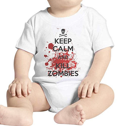 Body Neonato Fashion Keep Calm And Kill Zombies The Walking Dead - Bianco