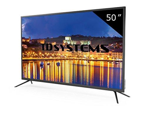 Televisor Led 50 Pulgadas Full HD, TD Systems K50DLG8F. Resolución 1920 x 1080, 3X HDMI, VGA, USB Reproductor y Grabador.