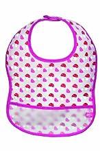 Lässig Bavoirs plastifiés avec poche - bavoirs lavables-Champignon Magenta