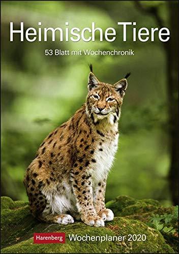 Heimische Tiere Kalender 2020: Wochenplaner, 53 Blatt mit Wochenchronik