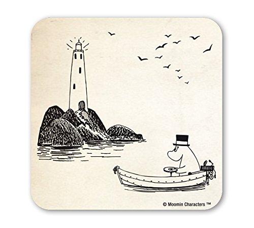 Mumins Untersetzer - Mumin-Papa - Leuchtturm - Moomins - altweiß - Lizenziertes Originaldesign - LOGOSHIRT