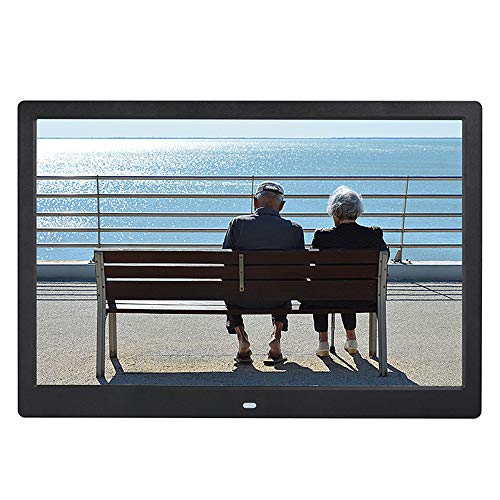 Digital Photo Frame 14 Zoll IPS Screen (1280 * 800) High Resolution Support MP3 MP4 Pictures and Video Player Clock and Calendar Funktion mit Fernbedienung,Black - Digital Frame Photo 14 Zoll