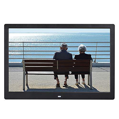 Cwhale digital photo frame 14 pollici ips schermo (1280 * 800) alta risoluzione supporto mp3 mp4 immagini e video player orologio e calendario funzione con telecomando,black
