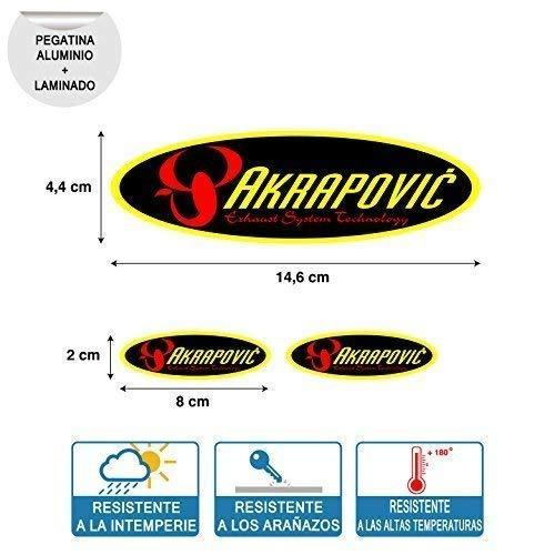 Aufkleber Aufkleber Kompatibel mit Oval Akrapovic Hoch Temperatur Laminat Print Digital Rohr Auspuff 3 Einheiten