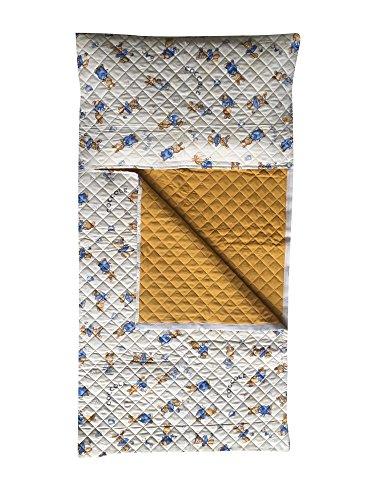 Sacco nanna asilo - coniglietti e coccole panna - da 2 a 6 anni - tessuto trapuntato 100% cotone - prodotto in italia