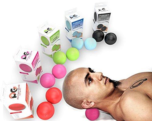 Physix Gear Massageball Igelball Fußmassage Selbstmassage Ball für Entspannung & Schmerzlinderung Massage Ball Fazienkugel für punktuelle Massage Igelbälle Massagebälle Faszienbälle 2x PINK (Lacrosse)